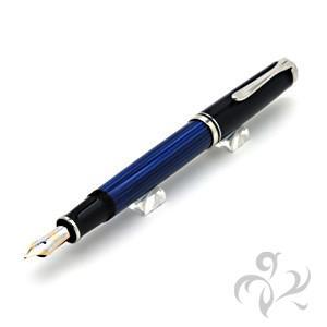 ペリカン 万年筆 M405ブルー縞