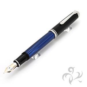 ペリカン 万年筆 M805ブルー縞