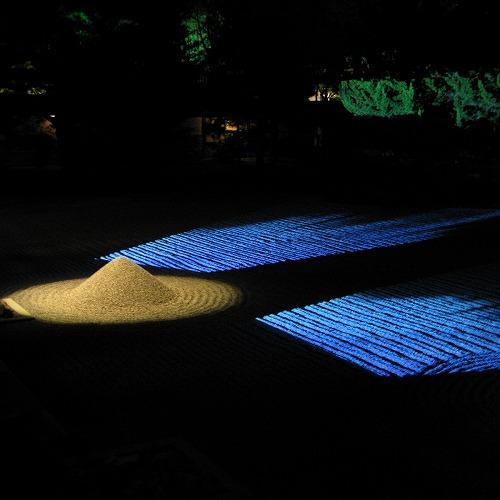 石庭ライトアップ