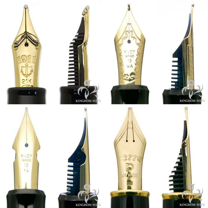 多様な日本製ペン先の一部