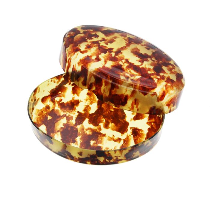 プラチナ セルロイド タマゴ型ケースL ベッコウ