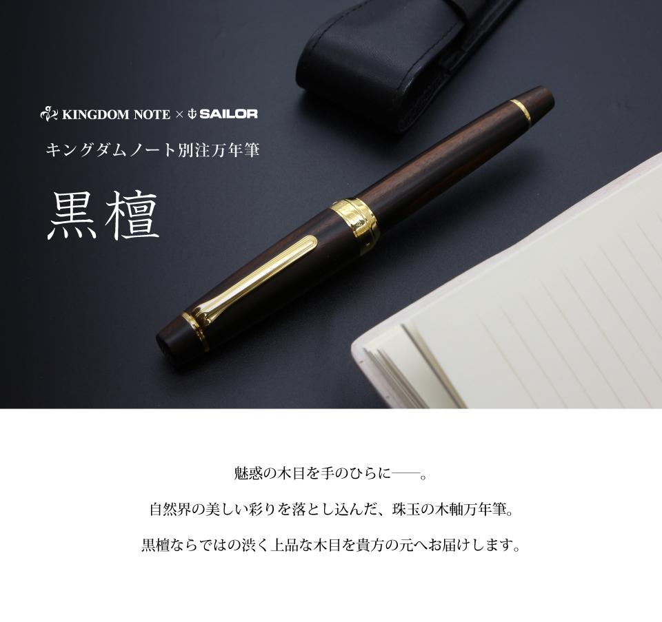 万年筆 キングダムノート別注 プロフェッショナルギア 黒檀