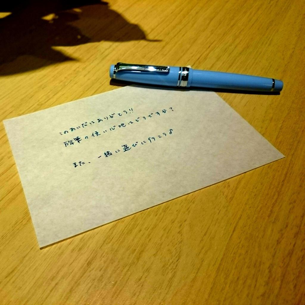 友人Yにつられて私も万年筆を。。。