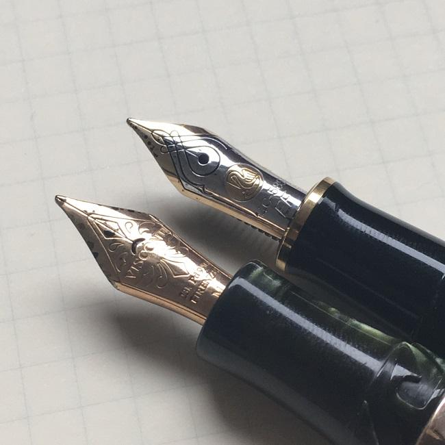 スーベレーン M400とのペン先比較