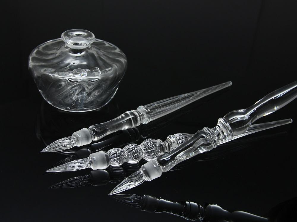Okamoto Tsunehide 岡本常秀 吹きガラスペン ボトルセット